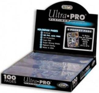 UP - Platinum 9-Pocket Pages (11 Hole) Display (100 Pages)