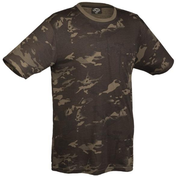 T-shirt, Sort Multicam, XXXL
