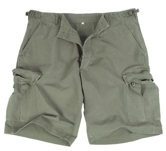 US BERMUDA Shorts R/S CO Forvasket, OLIV, Str. M