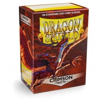 Dragon Shield Standard Sleeves - Matte Crimson (100 Kort lommer)