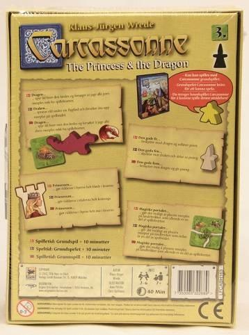 Carcassonne Expansion 3: The Princess & the Dragon, dansk