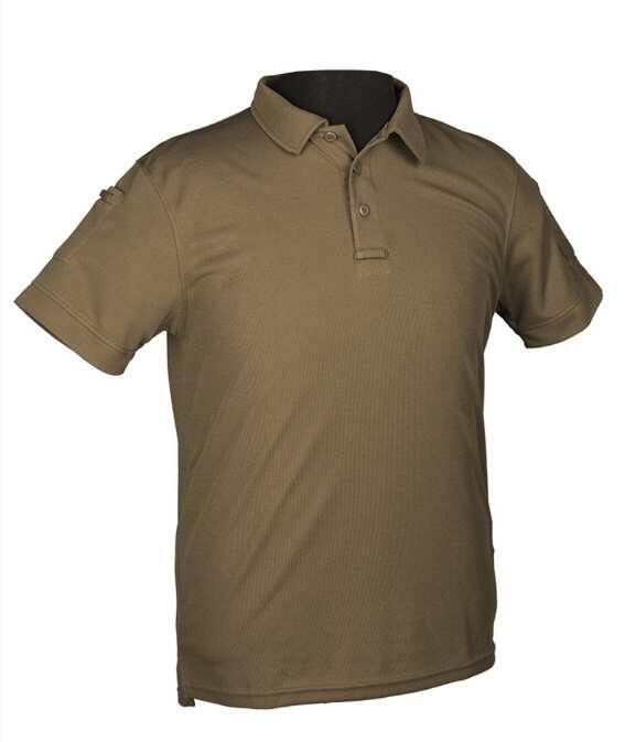 Fronten på Tactical Quick Dry Polo T-shirt - Olive - Str. XL