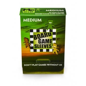 Board Games Sleeves - Non-Glare - Medium (57x89mm) - 50 Stk