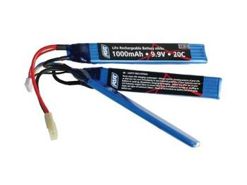 Softgun, Batteri, 9,9V 1000 mAh, LI-FE, sticks