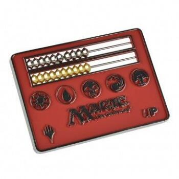 UP - Card Size Abacus Life Counter for Magic - Red