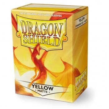 Dragon Shield Standard Sleeves - Matte Yellow (100 Kort lommer)