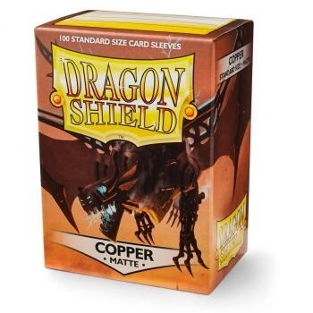Dragon Shield Standard Matte Sleeves - Copper 'Draco Primus' (100 Sleeves)