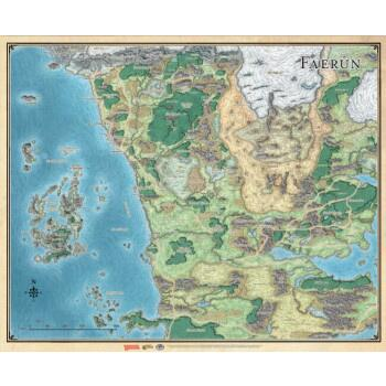 D&D: Sword Coast Adventurer's Guide Faerun Map