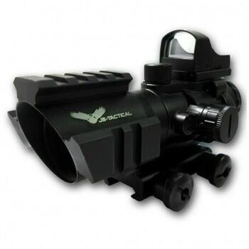Acog sigte 4x32 med red dot - Sort